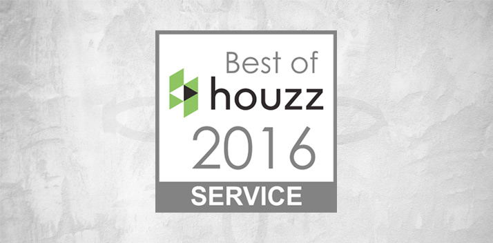 18 Feb Best Of Houzz 2016 Award For Customer Service