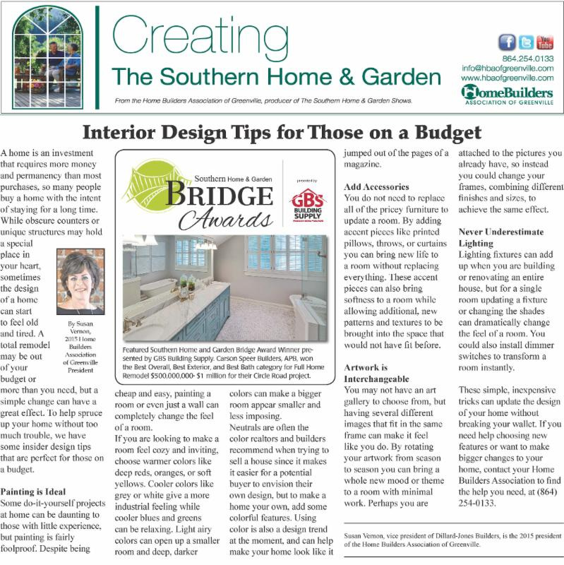 04 Dec Creating The Southern Home And Garden Article